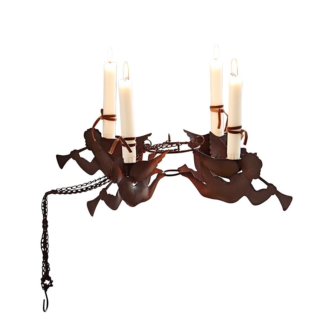 Kerzenhalter Angelus – Eisen dunkelbraun, Loberon bestellen