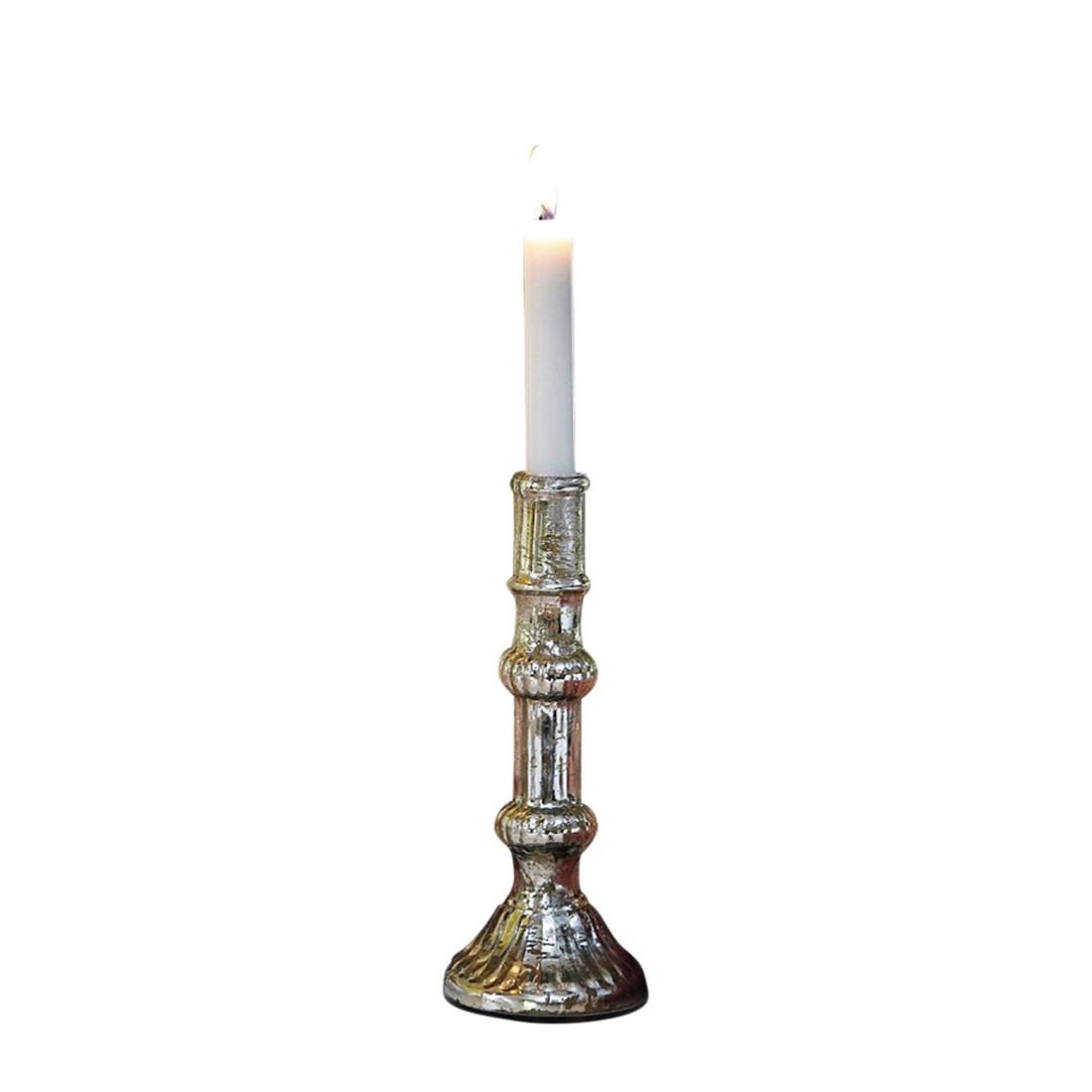 Kerzenständer Aube – Glas und Eisen antiksilber, Loberon jetzt kaufen