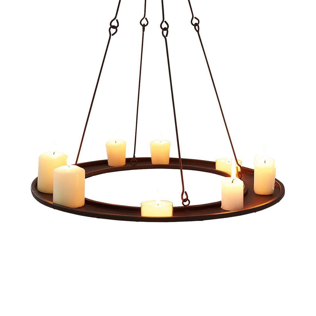 Kerzentablett zum Hängen – Metall, Braun, PureDay günstig online kaufen