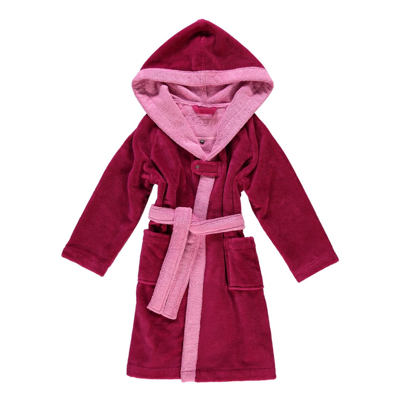 Kinderbademäntel Multifaser Bixie - Polyester /Viskose/Baumwolle - Cranberry - 80, Vossen