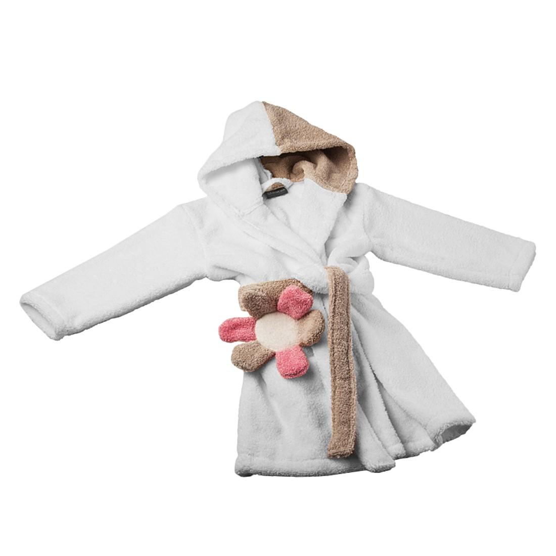 Kinderbademantel HAPPY – 100% Baumwolle – Vanille/Creme – Größe: 104, stilana online kaufen