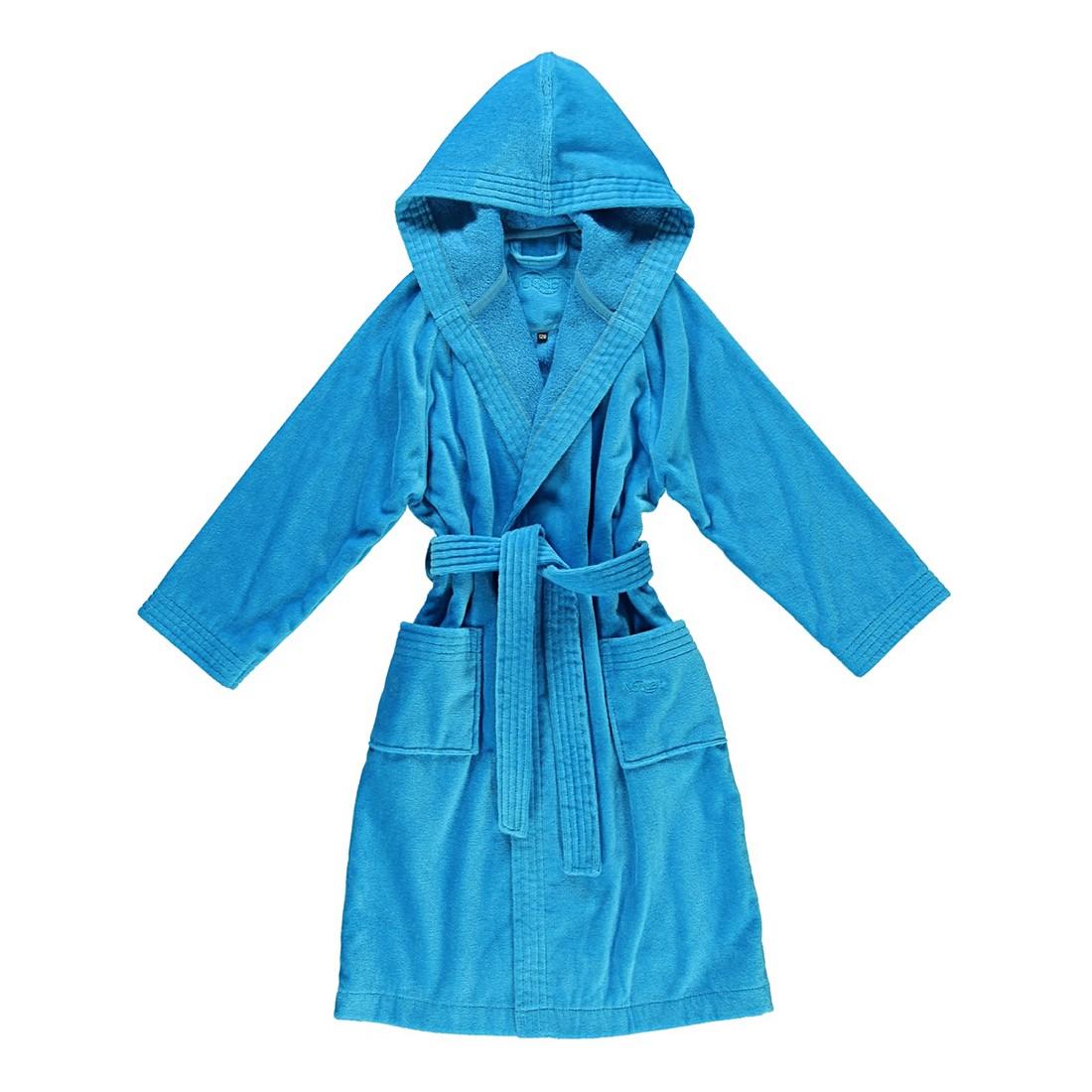 Kinderbademantel Texie – Kinder – Velours – 100% Baumwolle turquoise – 557 – Größe: 128, Vossen günstig kaufen