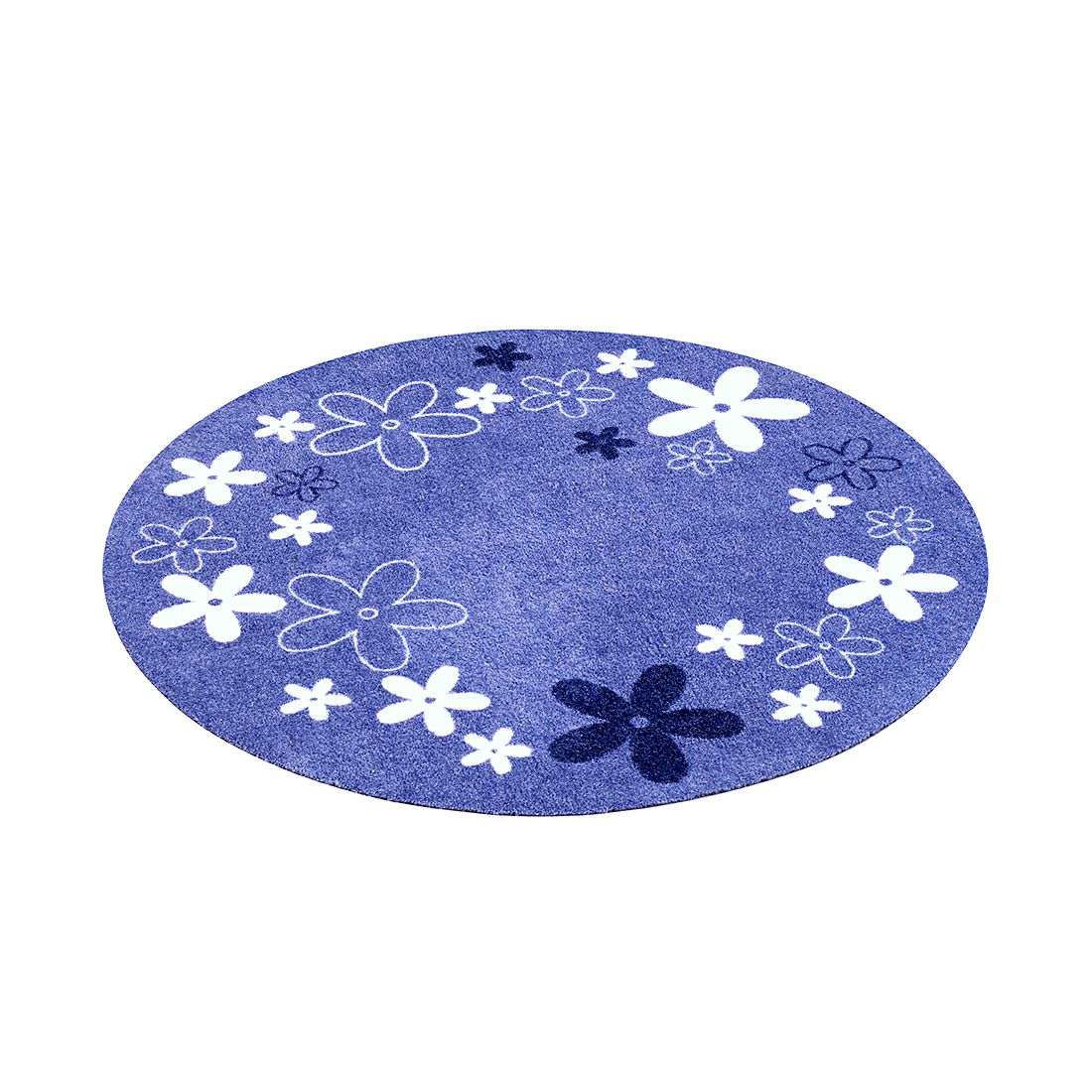 Kinderteppich Flower Field rund – Blau, Zala Living jetzt bestellen