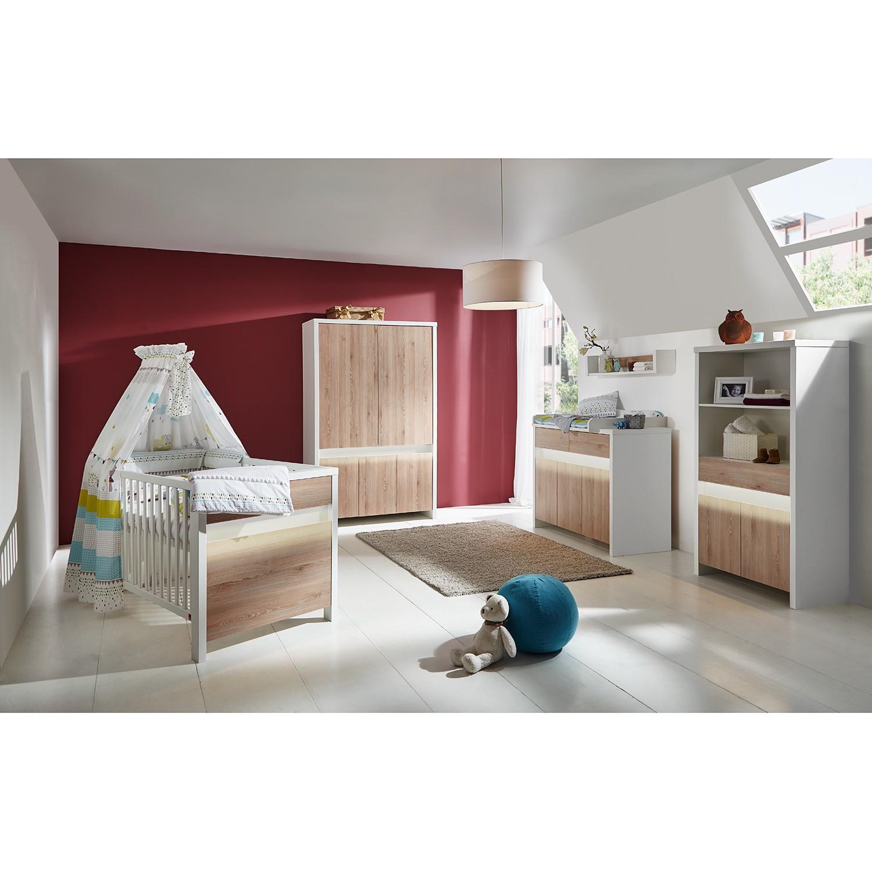 EEK A+, Kinderzimmer Planet (mit Beleuchtung) - Weiß / Pinie Dekor, Schardt