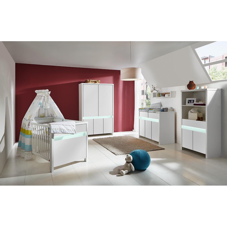 EEK A+, Kinderzimmer Planet (mit Beleuchtung) - Weiß / Türkis, Schardt