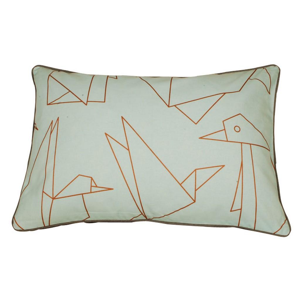 Kissen Design Mint – Baumwolle – Turquise Hintergrund mit Motiven, Aspegren Denmark jetzt bestellen