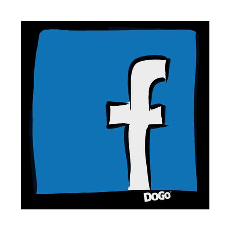 Kissen Facebook – 100% Leinen – Beige, DOGO online kaufen