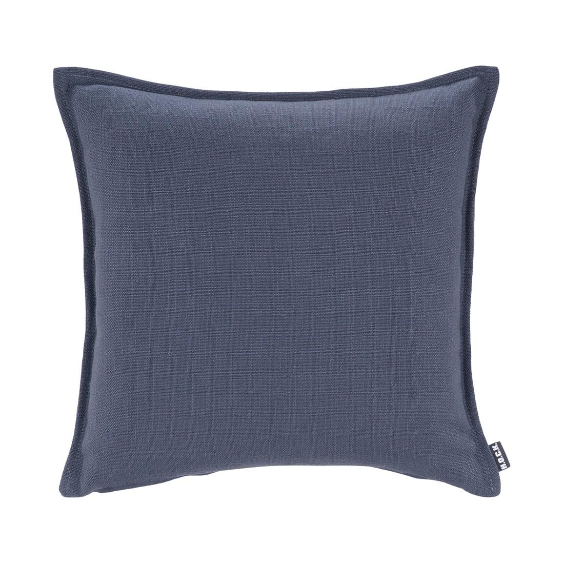 kissen manhattan leinen blau 45x45cm h o c k online bestellen. Black Bedroom Furniture Sets. Home Design Ideas