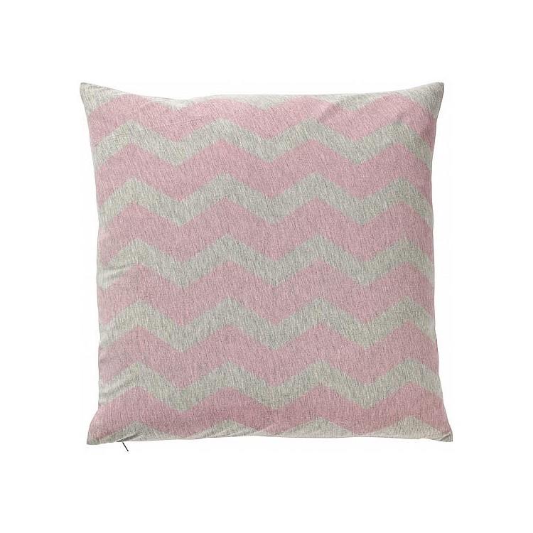 Kissen – Mischgewebe – Zickzack rosa, Bloomingville kaufen