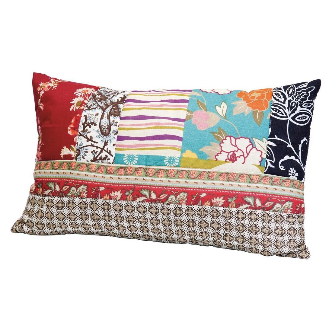 kissen patchwork 30x50 au en baumwolle rei verschluss innen polyester waschbar bis 30 c. Black Bedroom Furniture Sets. Home Design Ideas