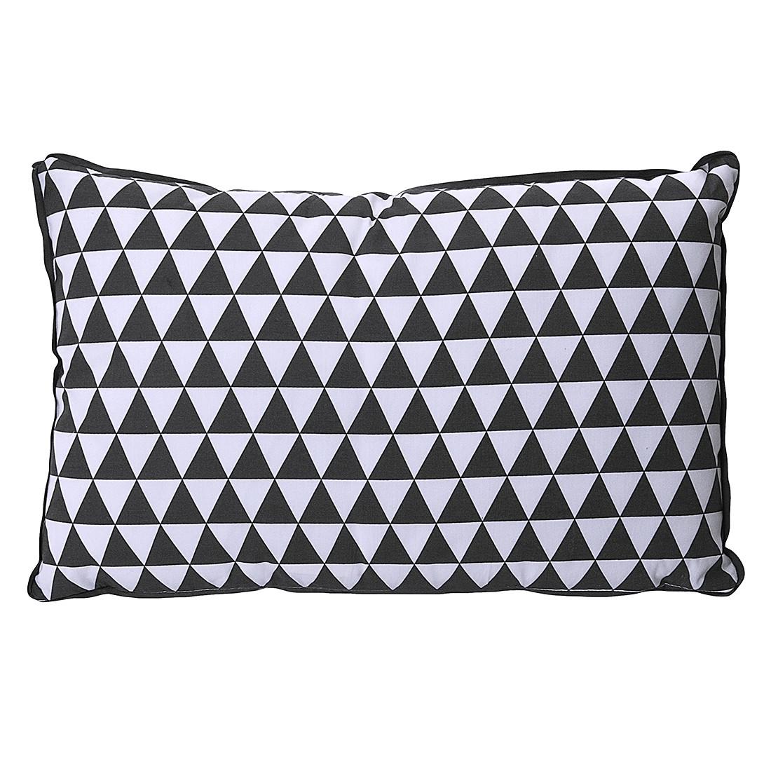 Kissen Triangles II – Dunkelgrau/Weiß, Present Time kaufen