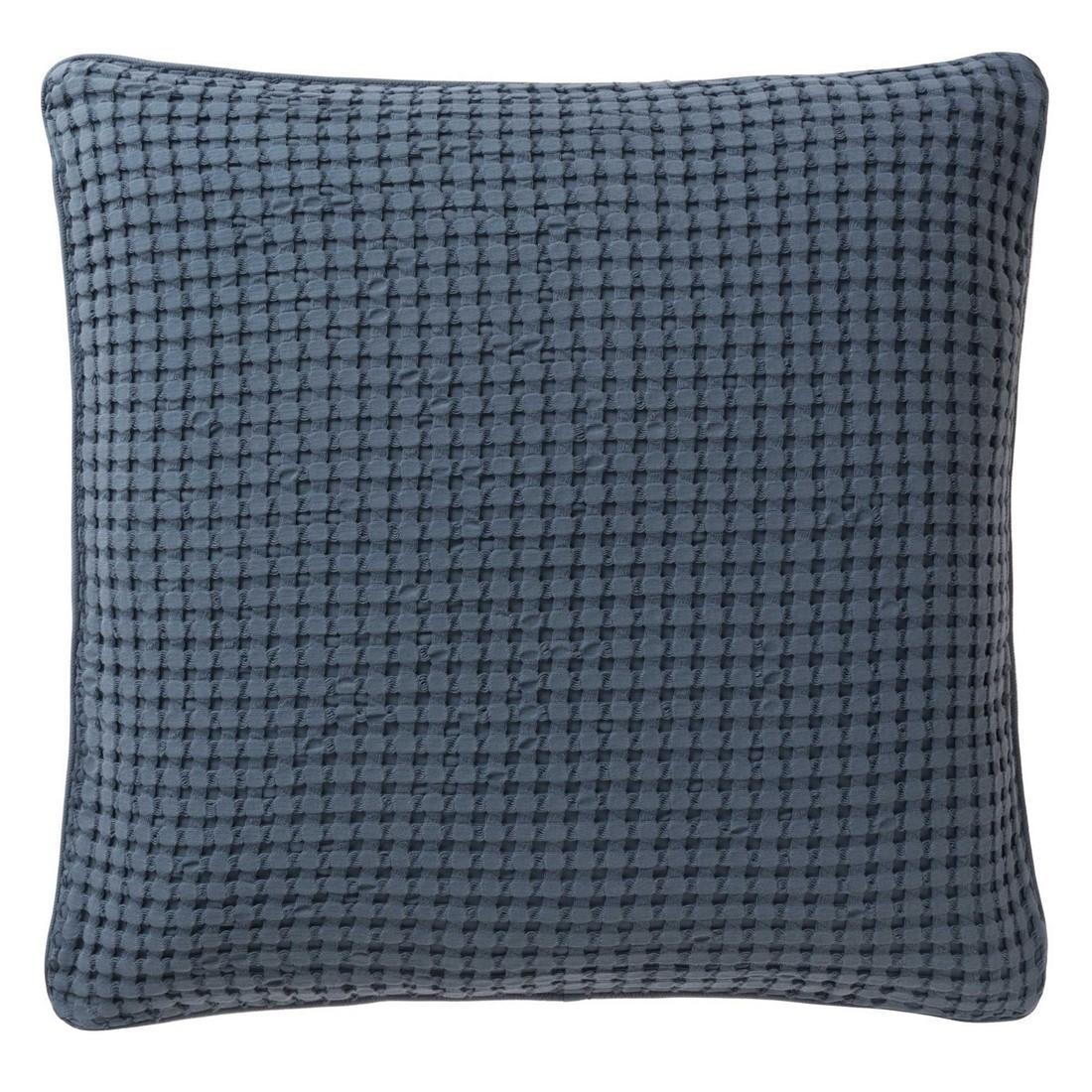 Kissen Veiros – Baumwolle – Blaugrau – 50×50, Urbanara günstig kaufen
