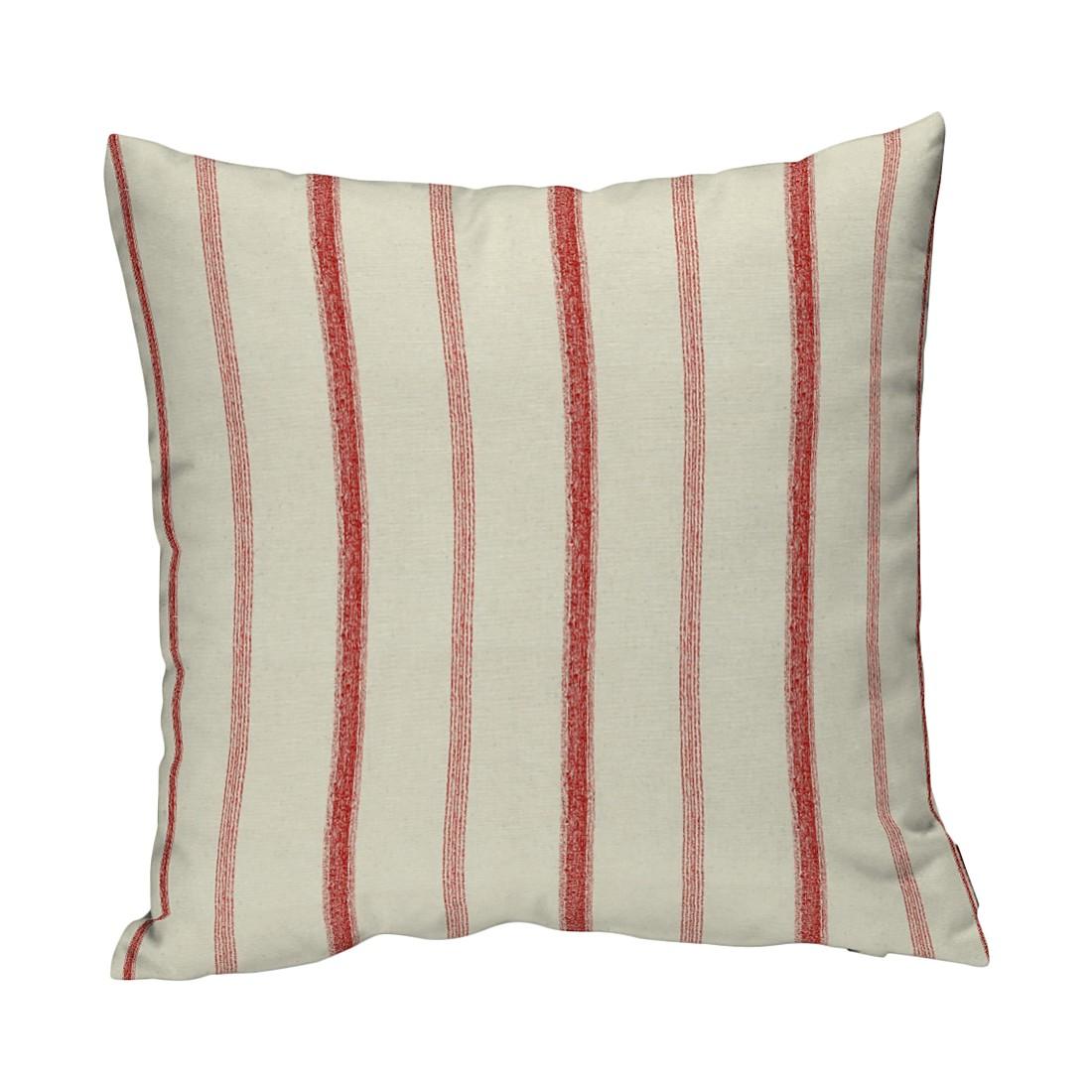 Kissenhülle – Creme/Rot Streifen – 43×43 cm, Dekoria jetzt bestellen