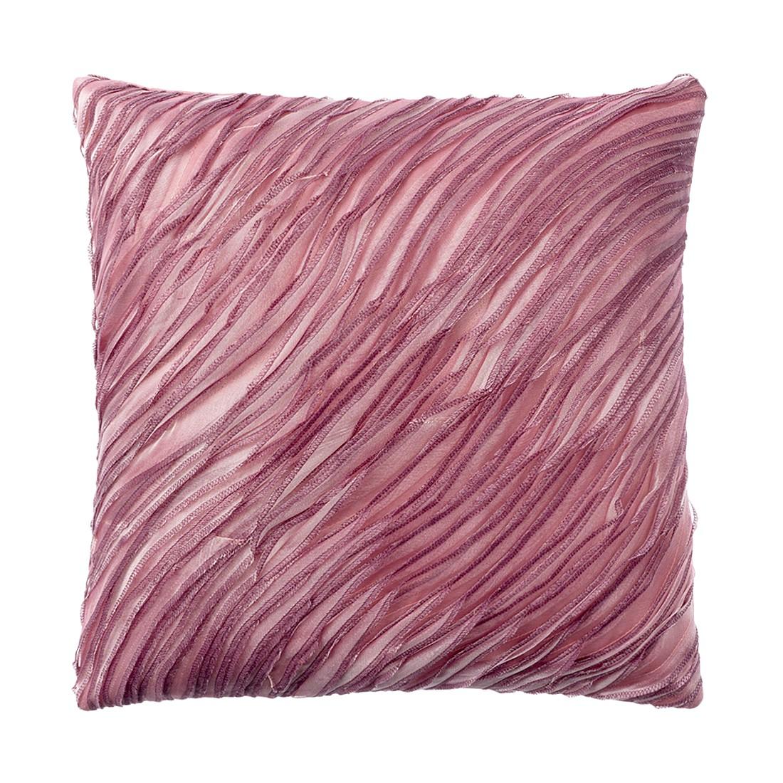Kissen Aurora – 45 X 45 cm, Aubergine, Polyester / Baumwolle – Kissenhülle, ohne Füllung, Dutch Decor kaufen