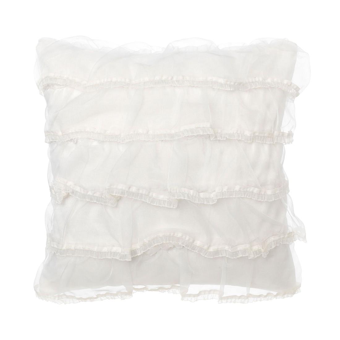 Kissen Brionne – 45 X 45 cm, Elfenbein, Polyester / Baumwolle – Kissenhülle, ohne Füllung, Dutch Decor online bestellen