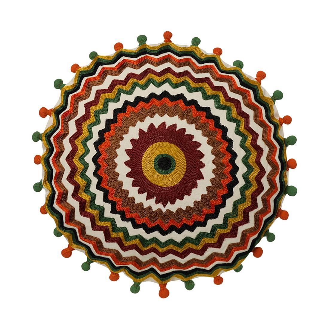 Kissen Clarksville – 40 Ø cm, Multi, Polyester / Baumwolle – Kissenhülle, mit Füllung, Dutch Decor günstig kaufen