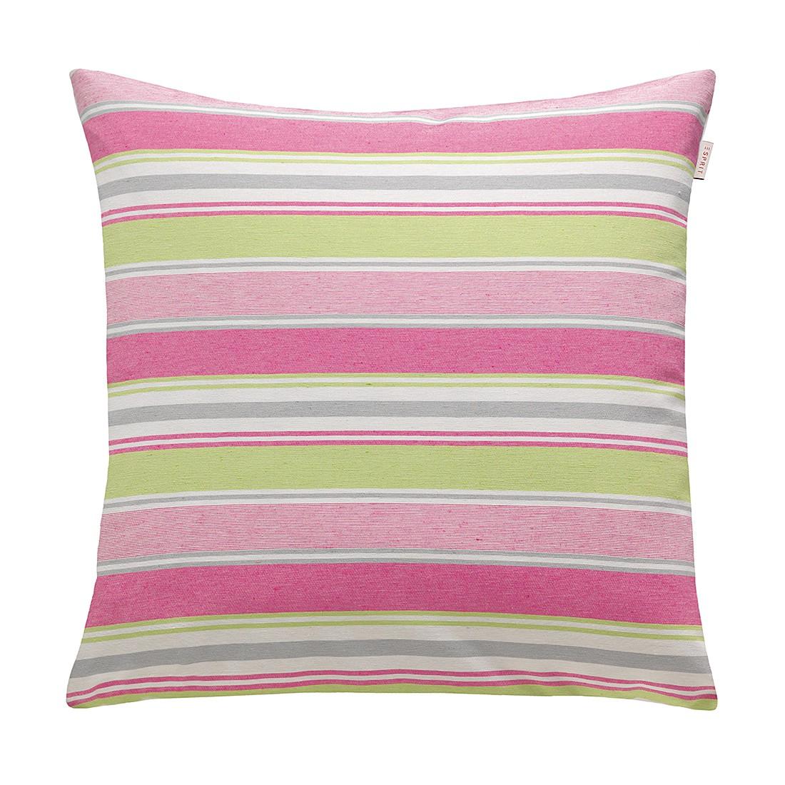 Kissenhülle Coloured – Pink/Lime, Esprit Home günstig