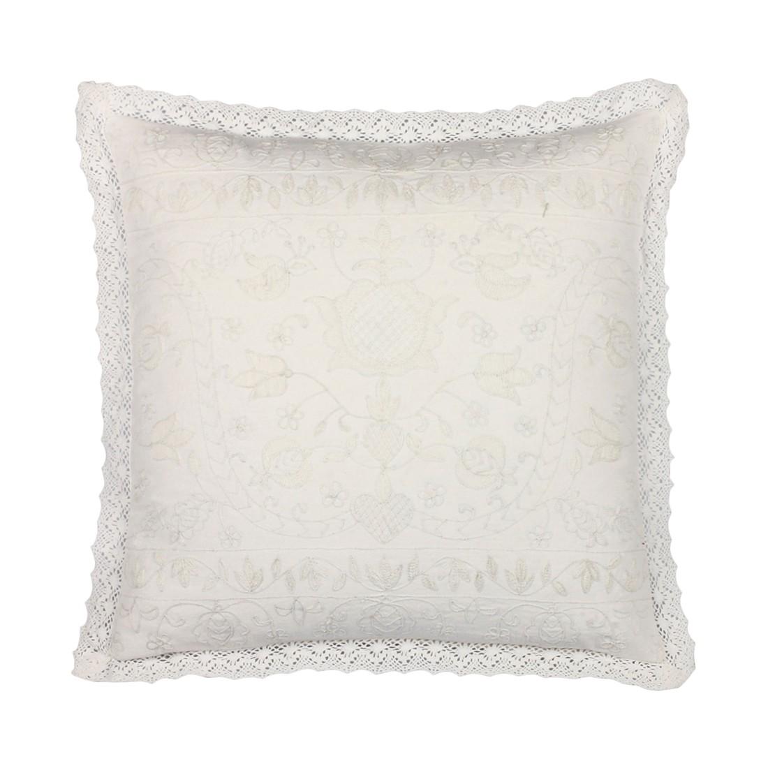 Kissen Corvaro – 45 X 45 cm, Elfenbein, Baumwolle – Kissenhülle, ohne Füllung, Dutch Decor günstig bestellen