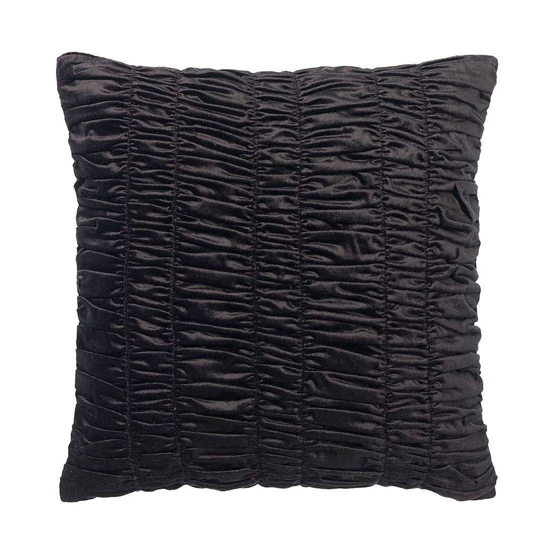 Kissen Falcade – 45 X 45 cm, Schwarz, Polyester / Baumwolle – Kissenhülle, ohne Füllung, Dutch Decor kaufen