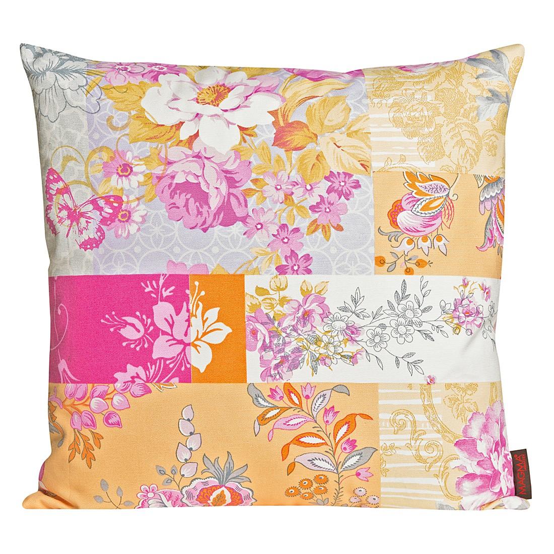 Kissenhülle Fleur II – Orange – Maße: 40 x 40 cm, Magma-Heimtex günstig