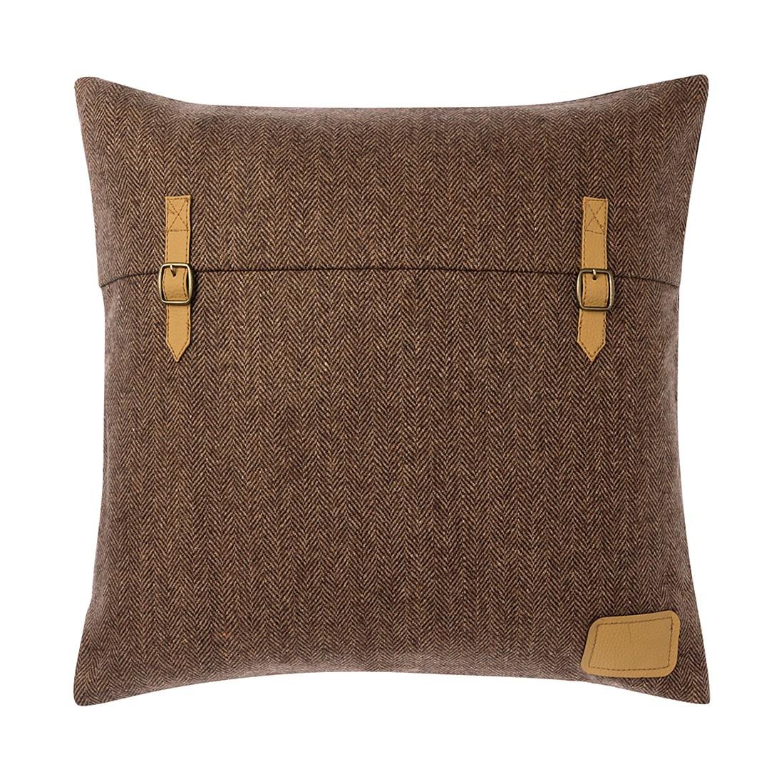 Kissen Kars – 45 X 45 cm, Kiesel, Baumwolle – Kissenhülle, mit Füllung, Dutch Decor jetzt bestellen