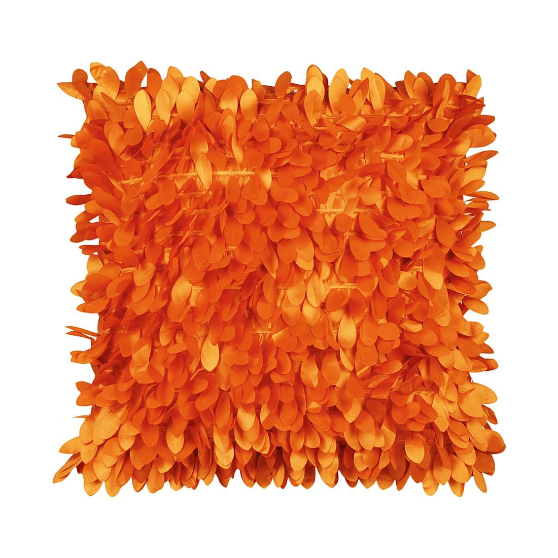 Kissen Leafs – 45 X 45 cm, Orange, Polyester – Kissenhülle, ohne Füllung, Dutch Decor kaufen