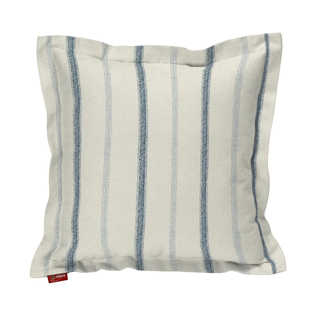 kissenh lle mit stehsaum creme blau streifen 38 x 38 cm dekoria online kaufen. Black Bedroom Furniture Sets. Home Design Ideas