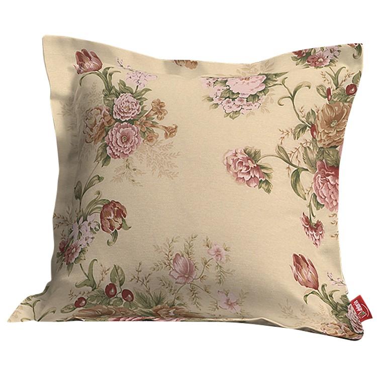 Kissenhülle mit Stehsaum – Rosen Beige – 45×45 cm, Dekoria günstig bestellen