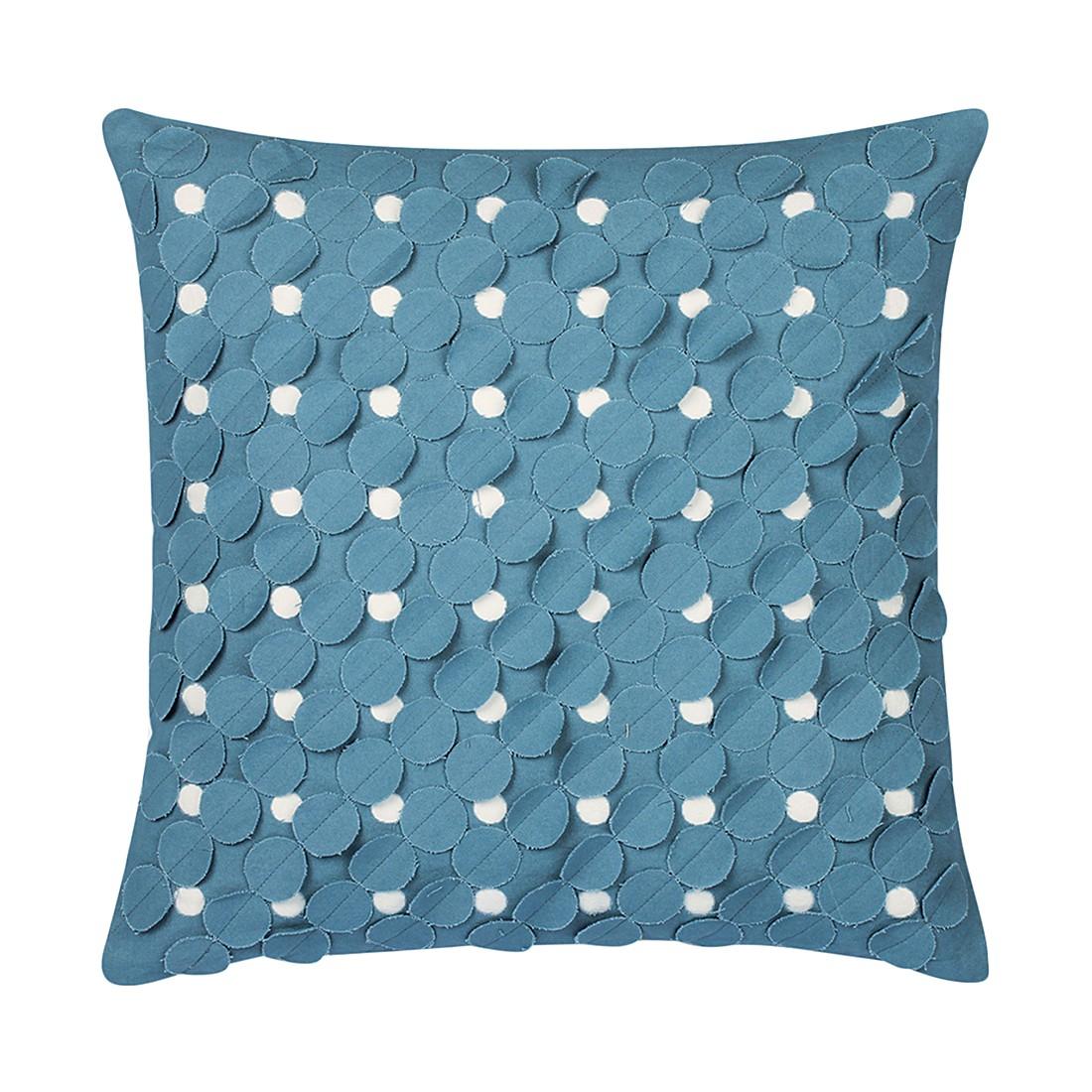 Kissen Orzola – 45 X 45 cm, Blau, Baumwolle – Kissenhülle, mit Füllung, Dutch Decor günstig kaufen