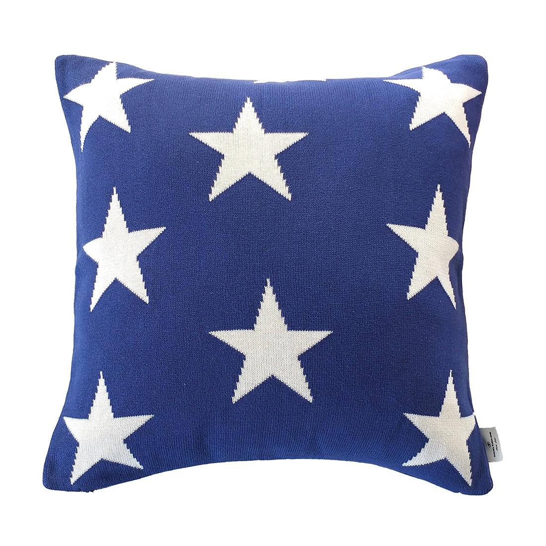 Kissenhülle T-Big Star – Blau – Maße: 50 x 50 cm, Tom Tailor günstig