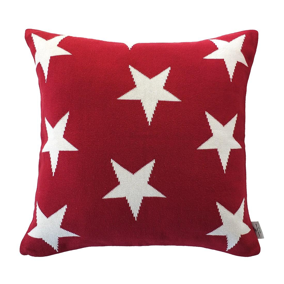 Kissenhülle T-Big Star – Dunkelrot – Maße: 50 x 50 cm, Tom Tailor günstig online kaufen