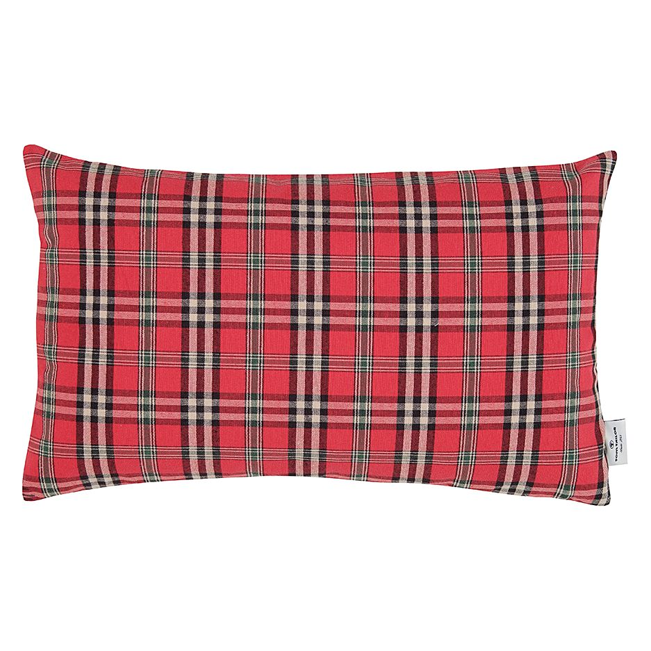 Kissenhülle T-Check (30×50 cm) – Rot, Tom Tailor kaufen