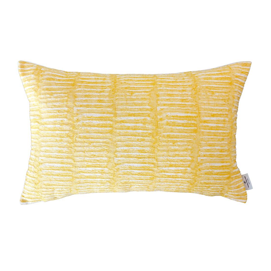 Kissenhülle T-Dashed Weaving – Gelb – Maße: 35 x 55 cm, Tom Tailor günstig bestellen