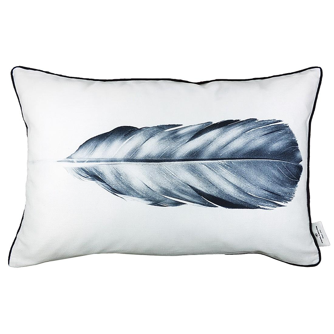 Kissenhülle T-Grey Feather – Weiss / Grau, Tom Tailor günstig online kaufen
