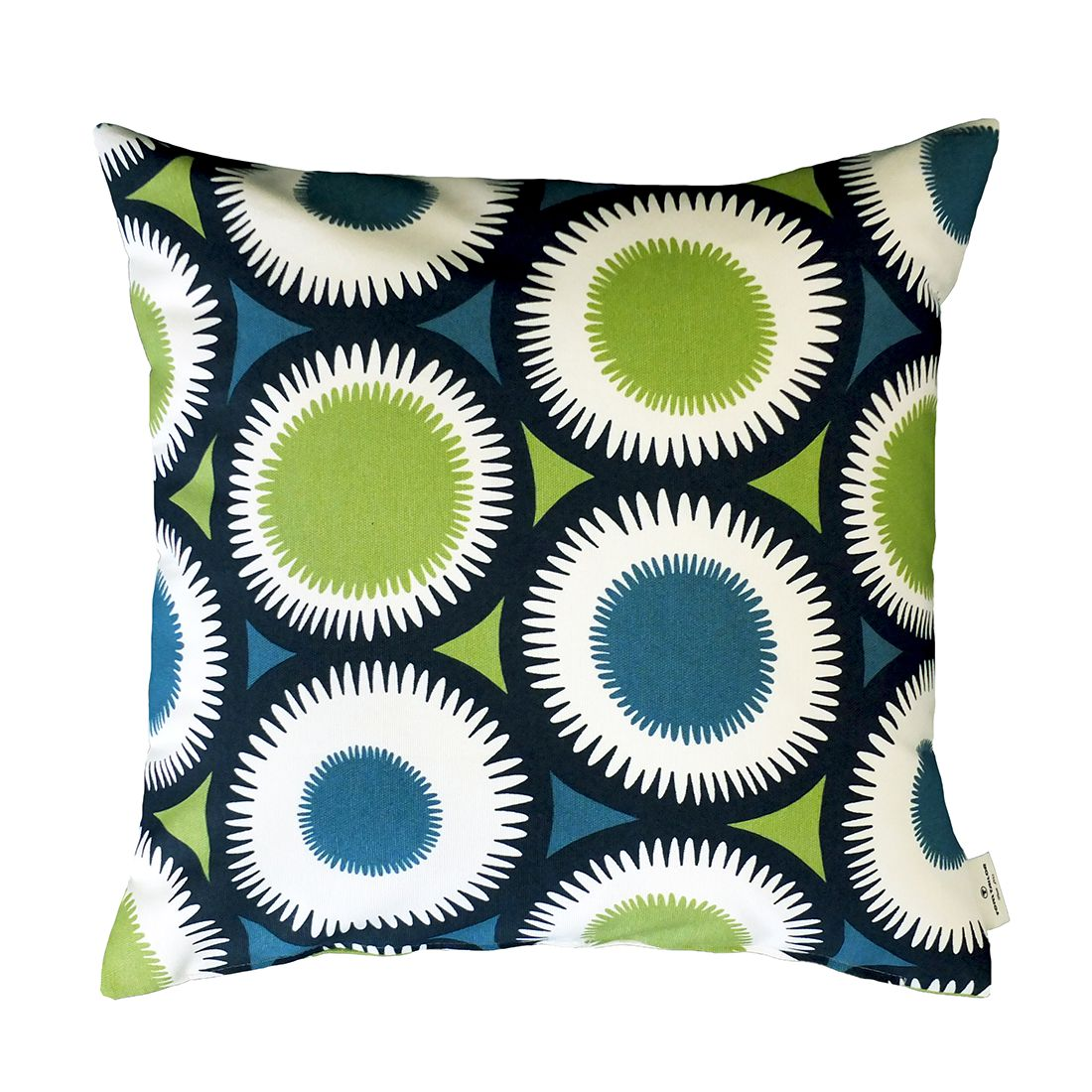 kissenh lle t painted daisy blau gr n ma e 50 x 50 cm. Black Bedroom Furniture Sets. Home Design Ideas