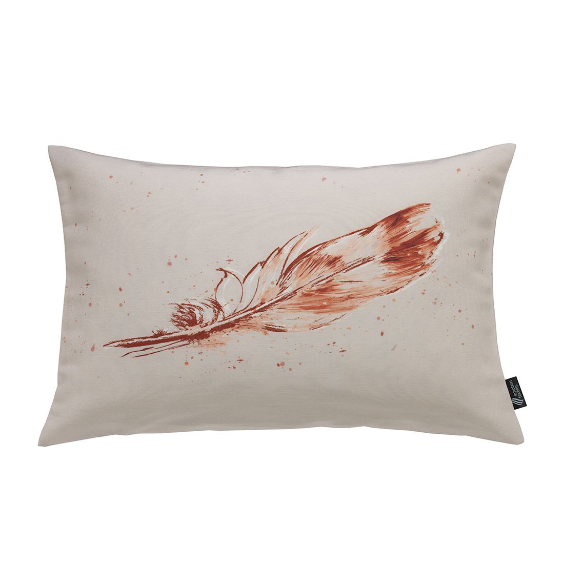 Kissenhülle Temperafeder – Kupfer, emotion textiles günstig