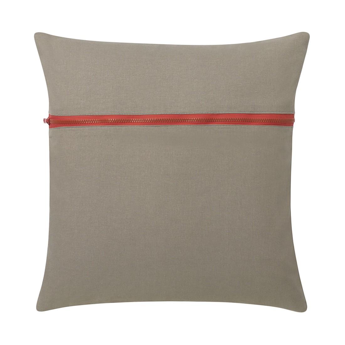 Kissen Zipper – 45 X 45 cm, Grau, Baumwolle Typ 2 – Kissenhülle, mit Füllung, Dutch Decor jetzt kaufen