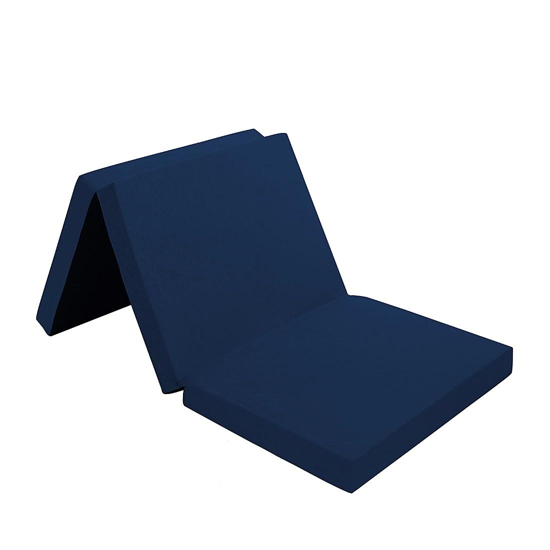 Klappmatratze 190 cm aus Schaumstoff inkl. Tragetasche – Blau, Amstyle günstig bestellen