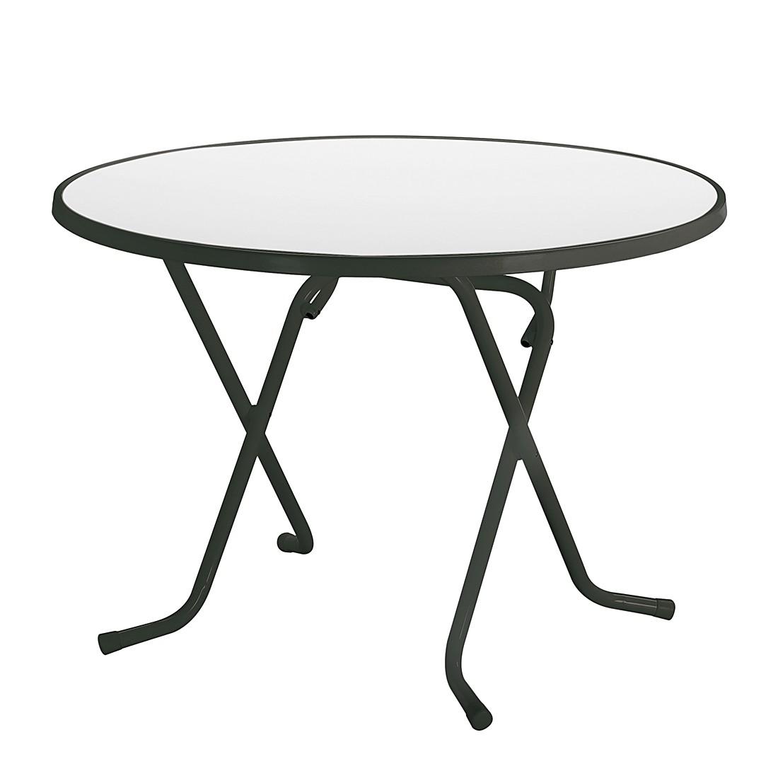 Klapptisch Primo - Stahlrohr Anthrazit - Ø 100 cm, Best Freizeitmöbel
