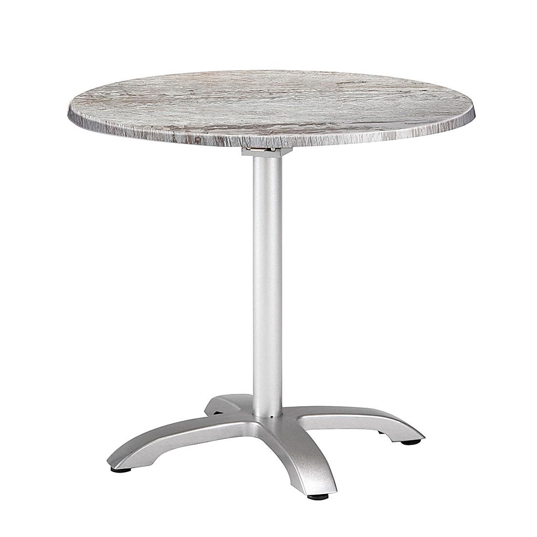 Klapptisch Maestro - Aluminium/Werzalit - Silber/Montpellier Dekor, Best Freizeitmöbel