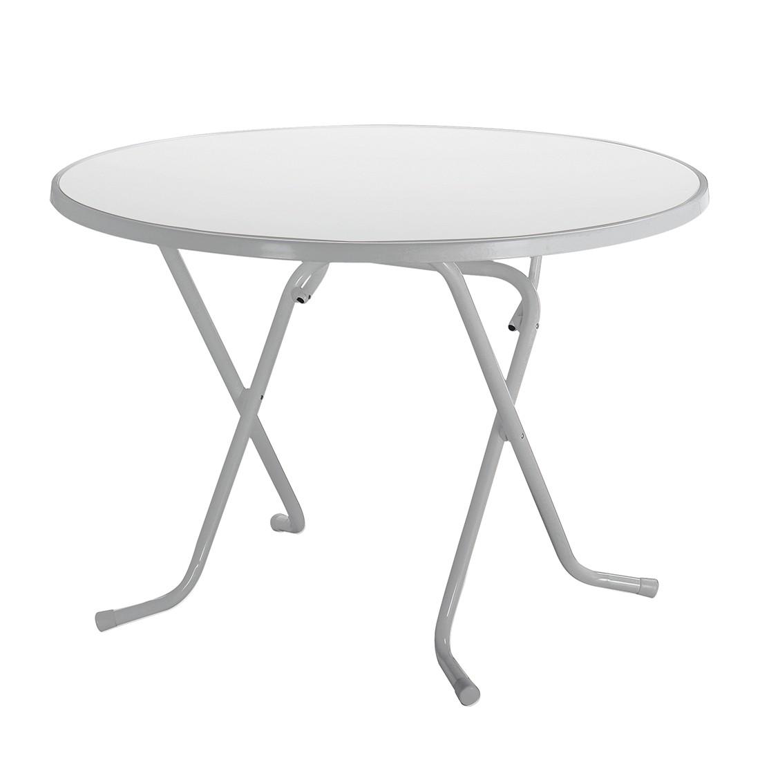 Klapptisch Primo - Stahlrohr Silber - Ø 80 cm, Best Freizeitmöbel