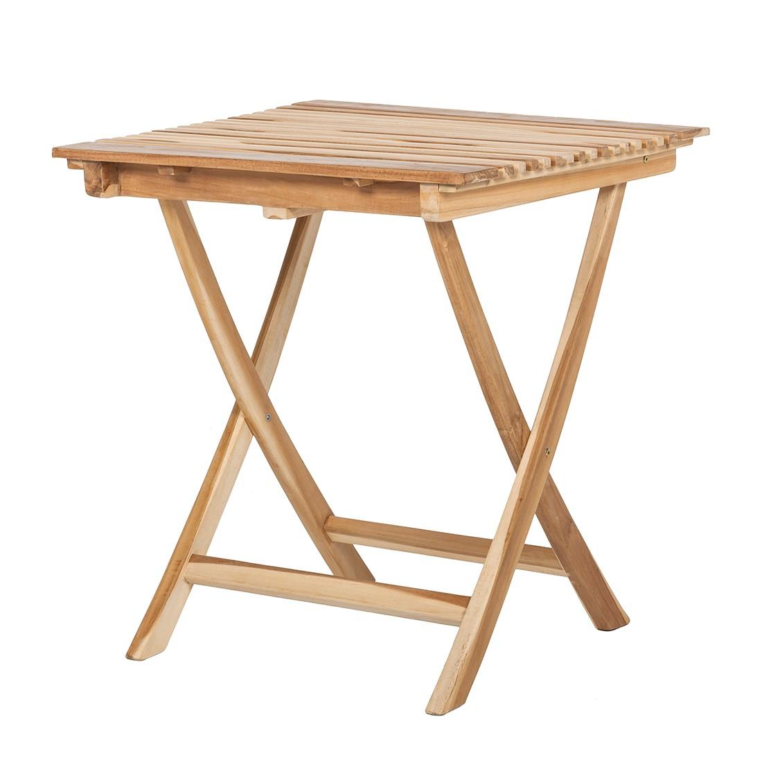 Tavolo pieghevole in legno massello colore naturale - Tavolo pieghevole foppapedretti ...