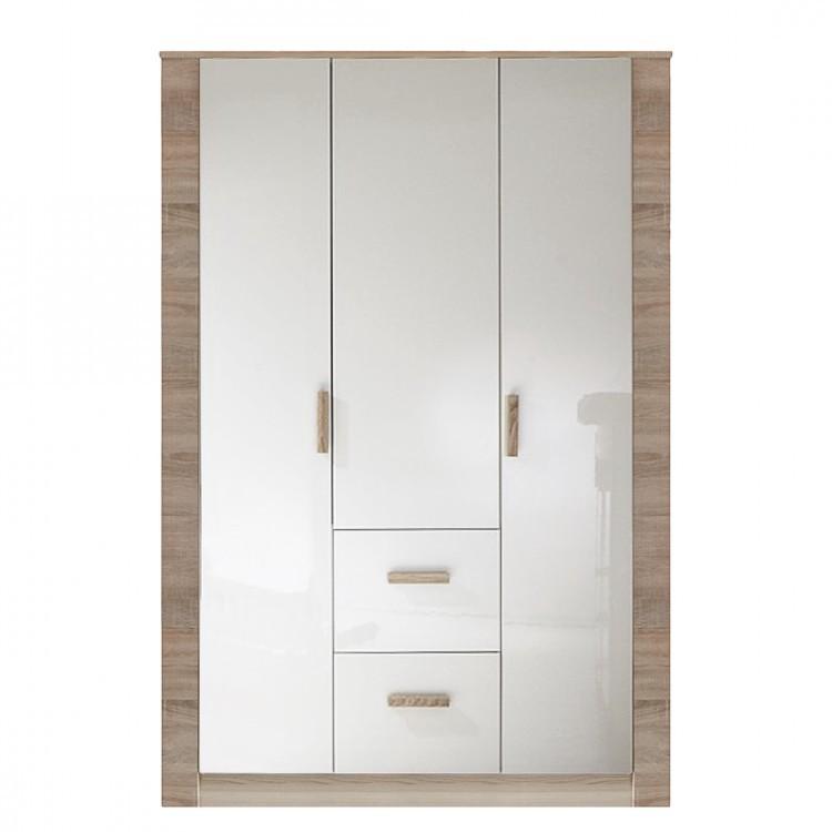 Kleiderschank Fiona – Eiche – Weiß – 2-türig, Wimex jetzt kaufen