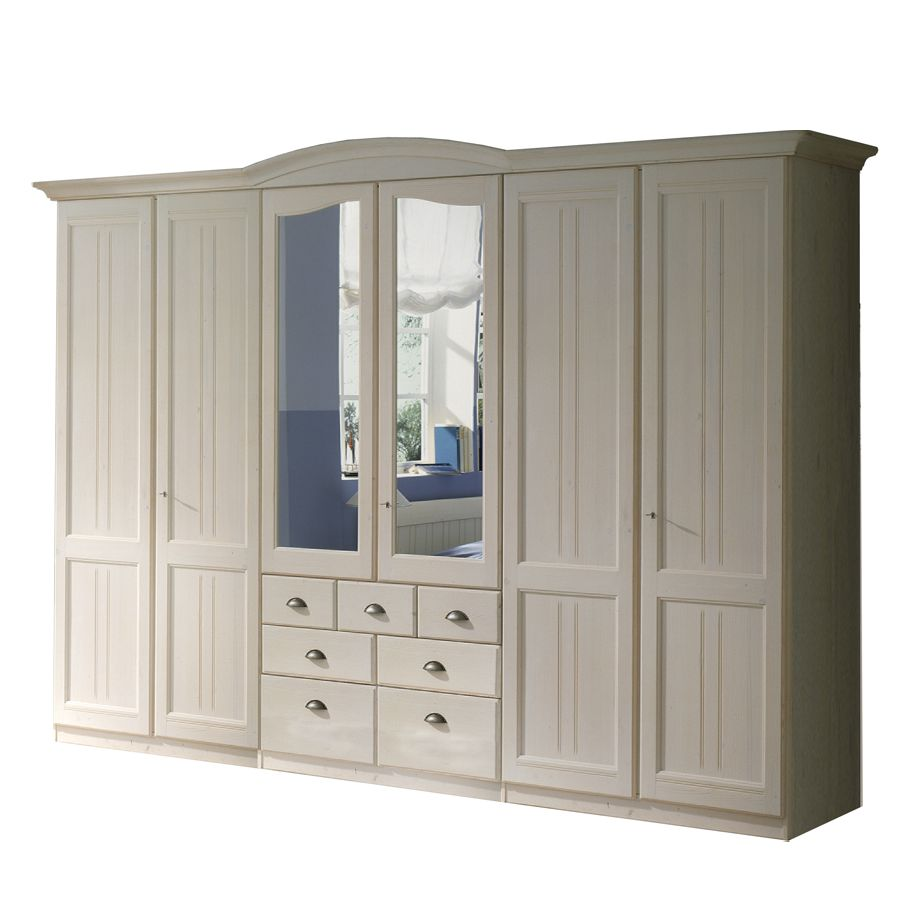kleiderschrank akzenta fichte massivholz wei. Black Bedroom Furniture Sets. Home Design Ideas