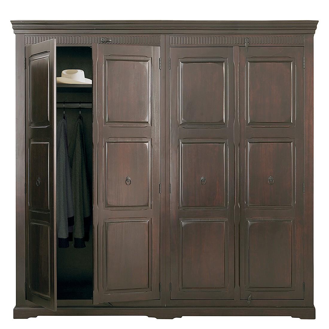 kleiderschrank authentico sheesham massiv kare design jetzt bestellen. Black Bedroom Furniture Sets. Home Design Ideas