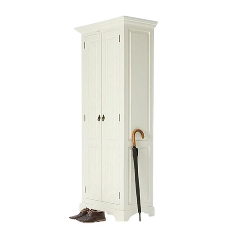 Kleiderschrank Capri - Pinie massiv - weiß lackiert