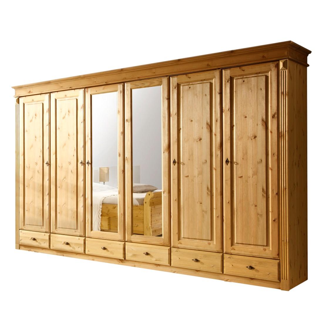 kleiderschrank cenan vi kiefer massiv gebeizt ge lt. Black Bedroom Furniture Sets. Home Design Ideas