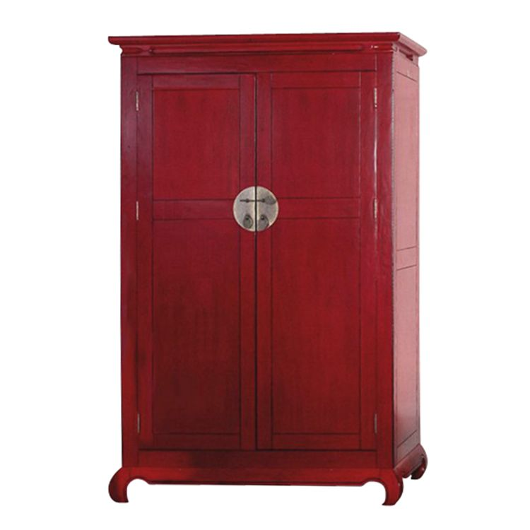 kleiderschrank feng shui massive pinie gebeizt rot. Black Bedroom Furniture Sets. Home Design Ideas