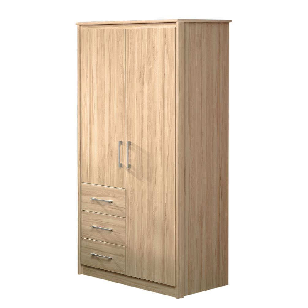 kleiderschrank flacona kernbuche dekor zweit rig mit drei schubladen. Black Bedroom Furniture Sets. Home Design Ideas