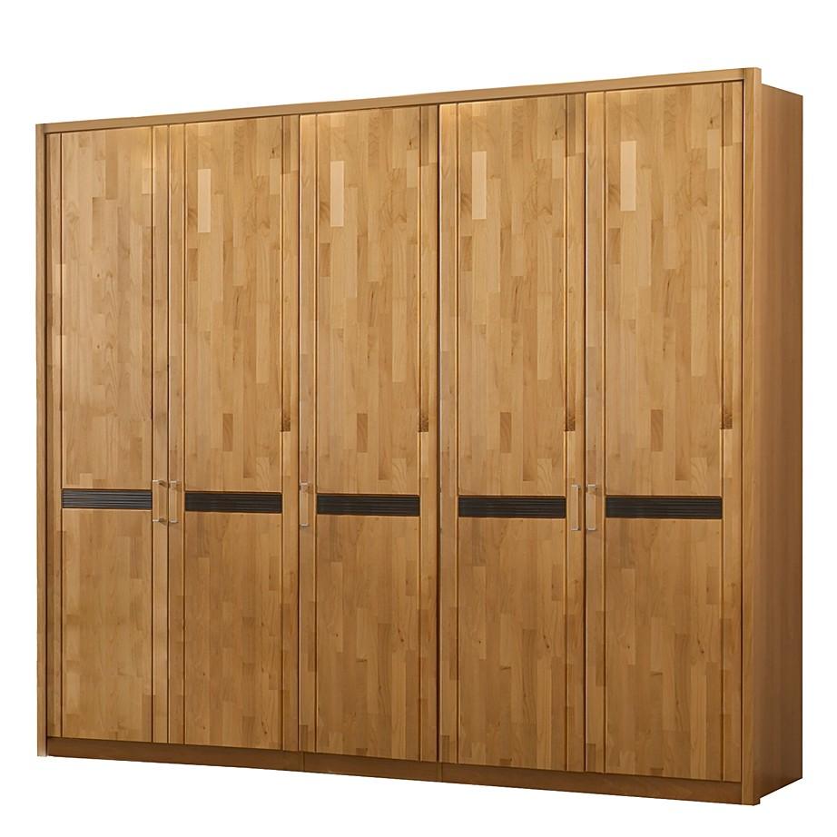 Kleiderschrank Gloria – Erle teilmassiv lackiert/Braun – Zubehör: mit Rahmen, Franco Möbel jetzt bestellen
